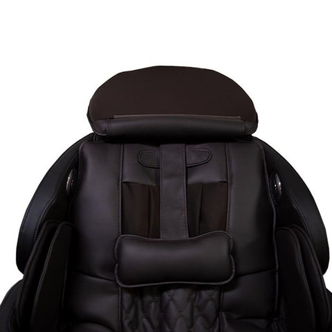 Osaki OS Pro Capella Massage Chair brown color close up of head rest