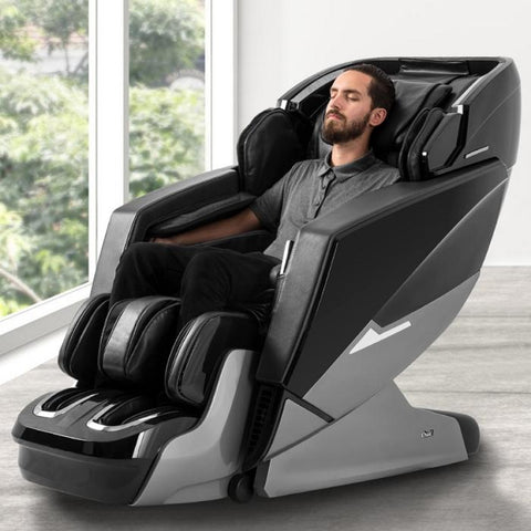 Osaki OS-Pro Ekon Massage Chair in black in room with model
