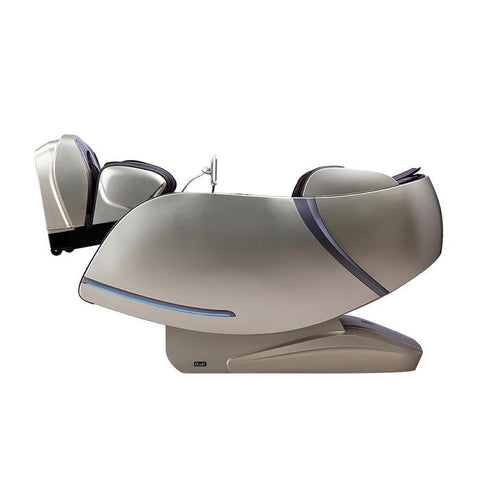 Osaki OS-Pro First Class Massage Chair in beige color reclined position