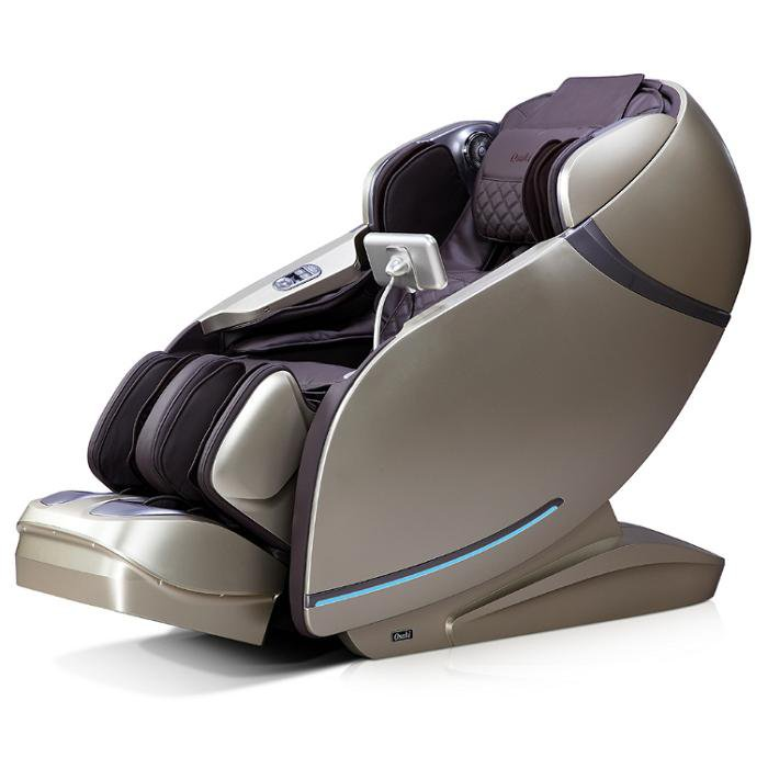 Osaki OS-Pro First Class Massage Chair in dark grey black semi side view
