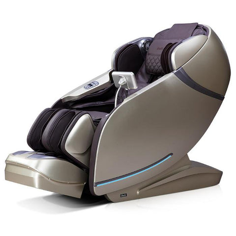 Osaki OS-Pro First Class Massage Chair in brown beige semi side view