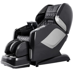 Osaki OS 4D Pro Maestro LE Massage Chair in black and gray semi side view