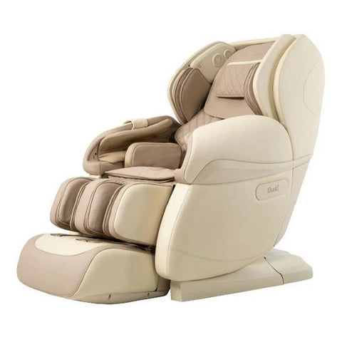 Osaki OS Pro Paragon 4D Massage Chair in beige color semi side view