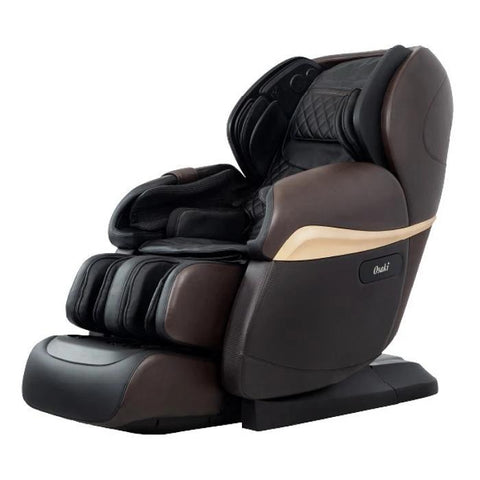 Osaki OS Pro Paragon 4D Massage Chair in dark brown color semi side view