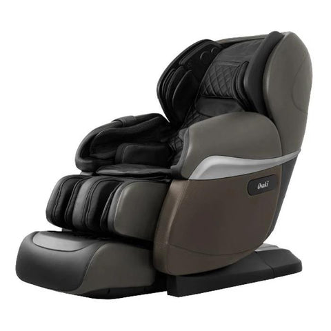 Osaki OS Pro Paragon 4D Massage Chair in dark grey semi side view