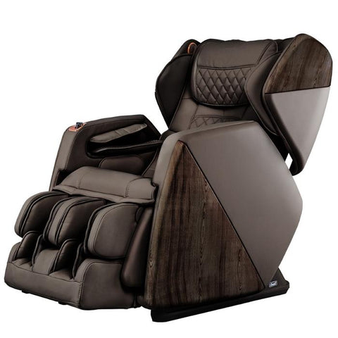Osaki OS Pro SOHO 4D Massage Chair in brown semi side view