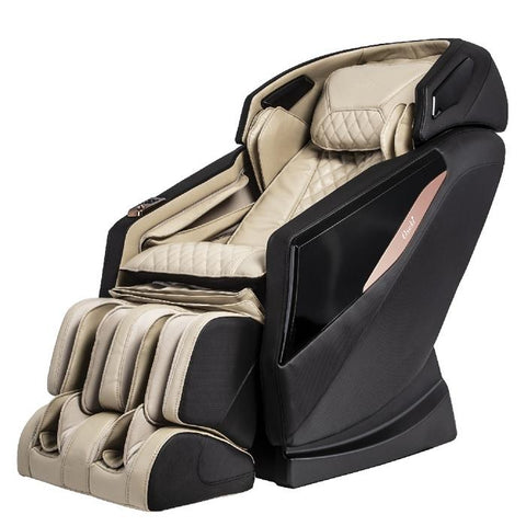 Osaki OS-Pro Yamato Massage Chair in beige and black semi side view