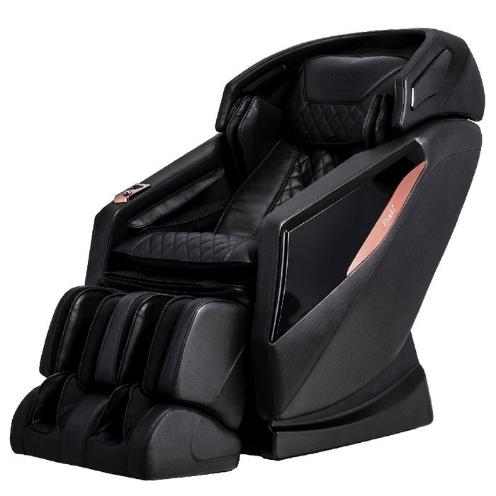 Osaki OS-Pro Yamato Massage Chair in black color semi side view