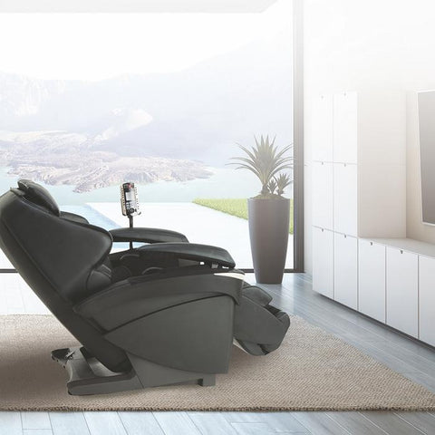 Panasonic EP-MA73 Massage Chair in black right side view facing TV