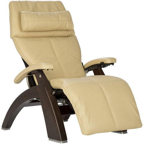 Perfect Chair PC-600 Dark Walnut Base Ivory Premium Leather Performance