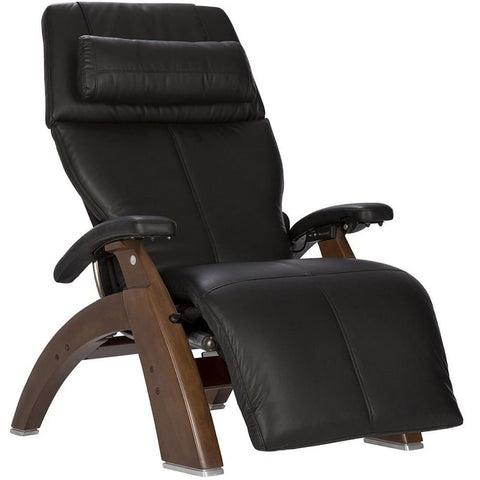 Perfect Chair PC-600 Walnut Base Black Premium Leather Performance