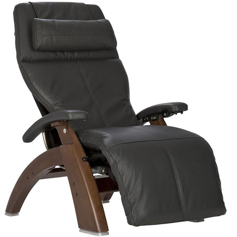 Perfect Chair PC-600 Walnut Base Gray Premium Leather Supreme