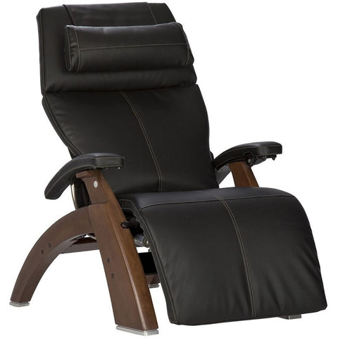 Perfect Chair PC-610 Walnut Base Black SofHyde Leather Comfort