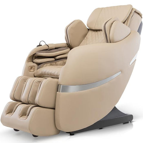 Positive Posture Brio+ Massage Chair in beige semi side view facing right