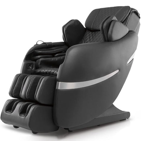 Positive Posture Brio+ Massage Chair in black semi side view with white background