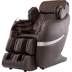 Positive Posture Brio+ Massage Chair in brown semi side view