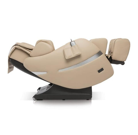 Positive Posture Brio+ Massage Chair in beige reclined position facing left