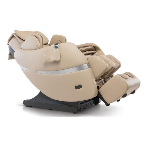Positive Posture Brio+ Massage Chair in beige 90 degree reclined angle