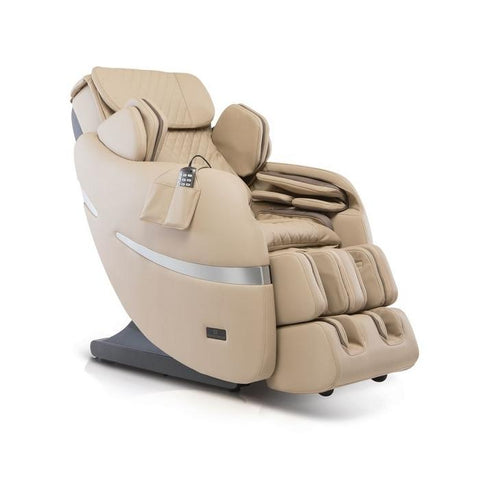 Positive Posture Brio+ Massage Chair in beige semi side view