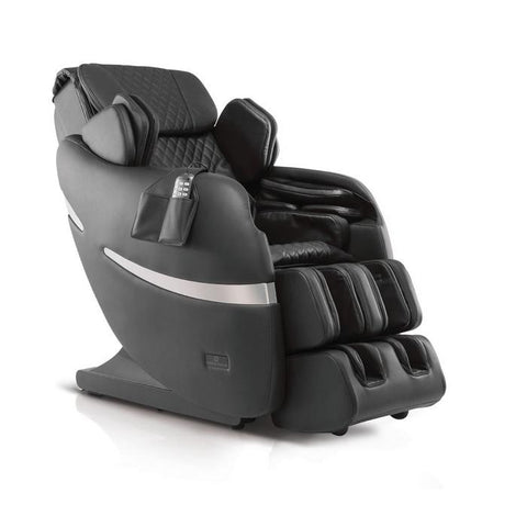 Positive Posture Brio+ Massage Chair in black semi side view facing right
