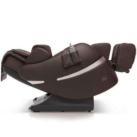 Positive Posture Brio+ Massage Chair in brown reclined position