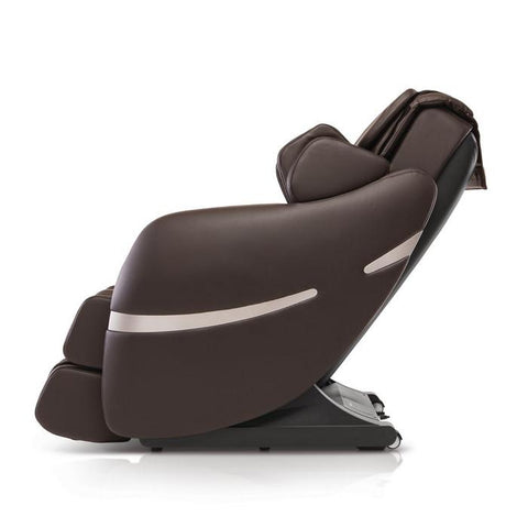 Positive Posture Brio+ Massage Chair in brown side view facing left
