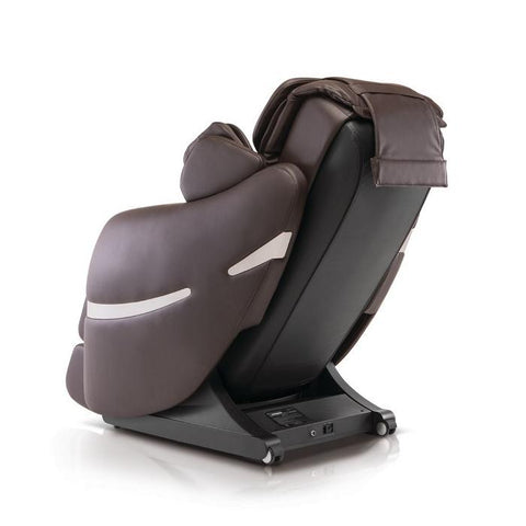 Positive Posture Brio+ Massage Chair in brown 90 degree angle facing left