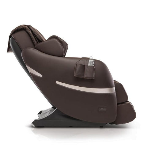 Positive Posture Brio+ Massage Chair in brown side view facing right