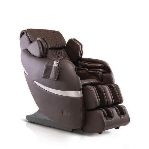 Positive Posture Brio+ Massage Chair in brown semi side view in white background