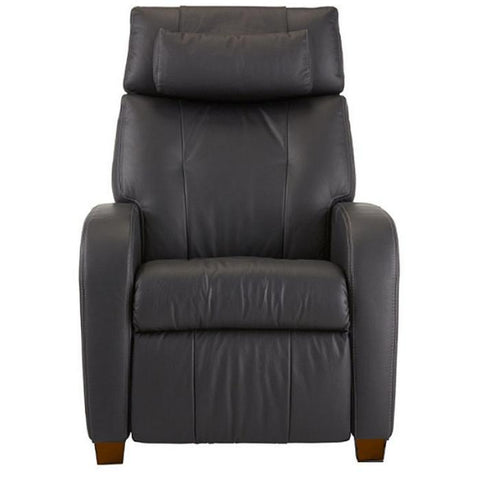 Positive Posture Café Zero Gravity Recliner in black  front view in white background