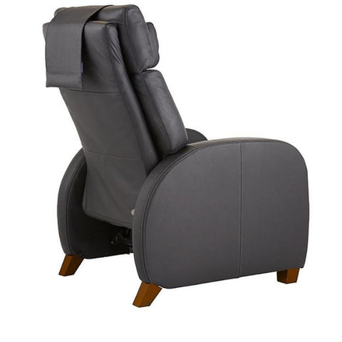 Positive Posture Café Zero Gravity Recliner in black semi side view facing right in white background