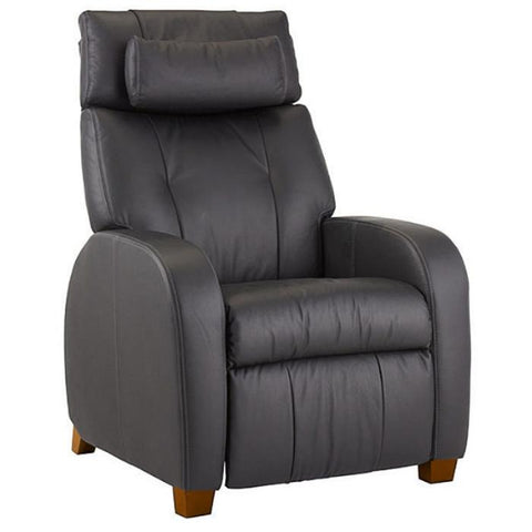 Positive Posture Café Zero Gravity Recliner in black semi side view in white background