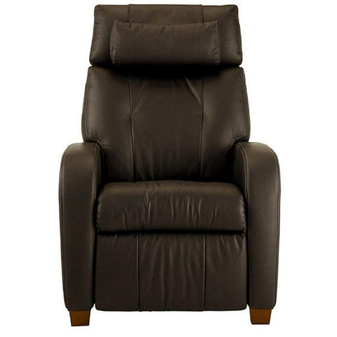Positive Posture Café Zero Gravity Recliner in brown front view white background