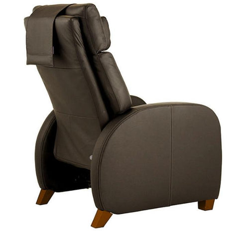 Positive Posture Café Zero Gravity Recliner in brown semi side view facing right in white background
