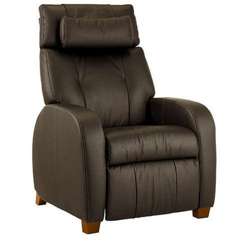 Positive Posture Café Zero Gravity Recliner in brown semi side view in white background