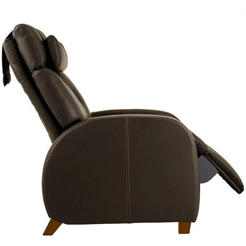 Positive Posture Café Zero Gravity Recliner in brown side view white background