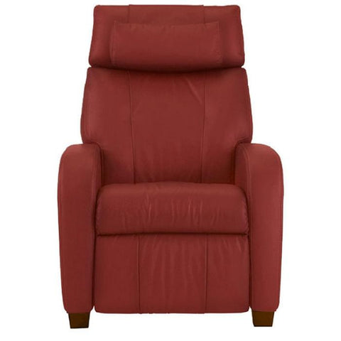 Positive Posture Café Zero Gravity Recliner in garnet front view white background