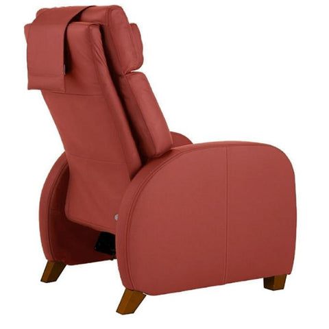 Positive Posture Café Zero Gravity Recliner in garnet semi side view white background