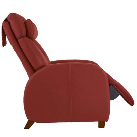Positive Posture Café Zero Gravity Recliner in garnet color side view white background