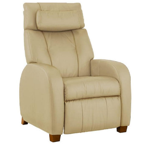 Positive Posture Café Zero Gravity Recliner in sand color semi front view in white background