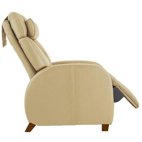 Positive Posture Café Zero Gravity Recliner in sand color side view white background