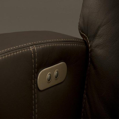 Positive Posture Luma Zero Gravity Recliner up close of upholstery and side buttons