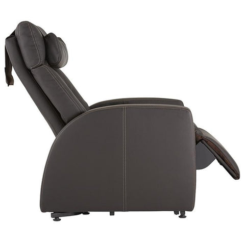 Positive Posture Luma Recliner with Lift Assist in brown side view white background
