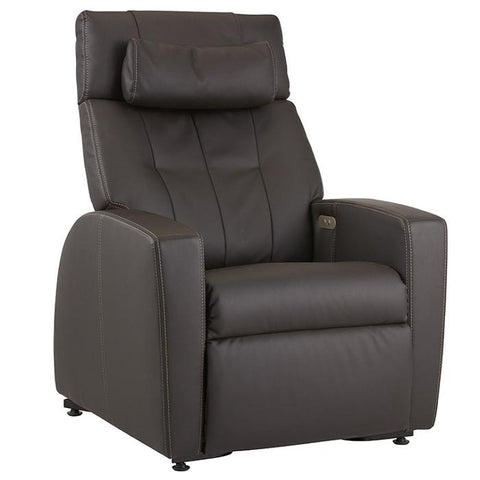 Positive Posture Luma Recliner with Lift Assist in brown semi front view white background