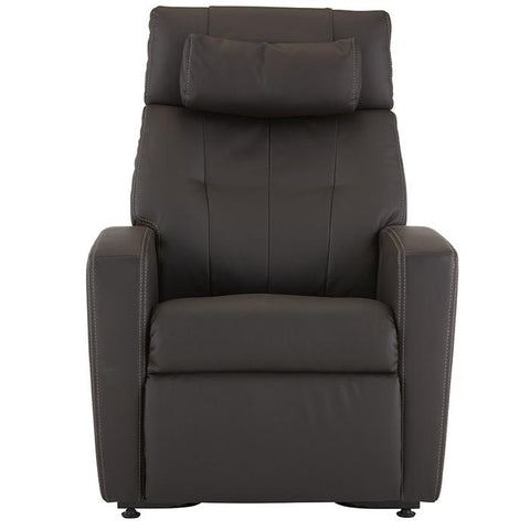 Positive Posture Luma Recliner with Lift Assist in brown front view white background