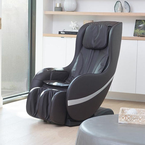 Positive Posture Sol Massage Chair in black semi side view angle inside a room