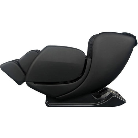 Sharper Image Revival Massage Chair in Black Reclined Position