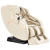 Image of Titan Luca V Massage Chair in cream angled view facing right white background