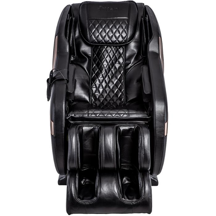 Titan Luca V Massage Chair in black front view white background