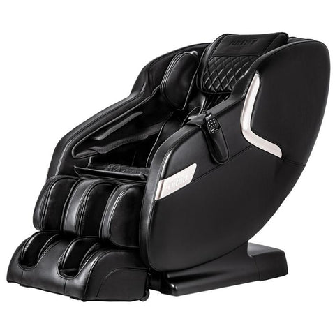 Titan Luca V Massage Chair in black angled view facing left in white background
